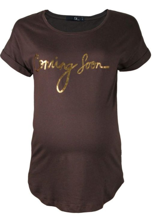 Dark Brown(Coming Soon) Graphic Tee by 9months for Female