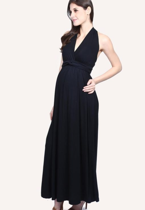 Black Multiway Maxi Dress by 9months for Female