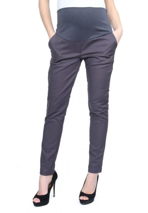 Dark Grey Full Panel Skinny Pants by 9months for Female
