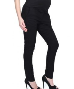 Black Full Panel Skinny Pants by 9months for Female