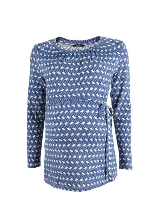 Blue L/S Self-Tie Top by 9months for Female