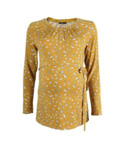 Mustard L/S Self-Tie Top by 9months for Female