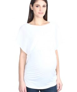 Off White Layered Nursing Top by 9months for Female