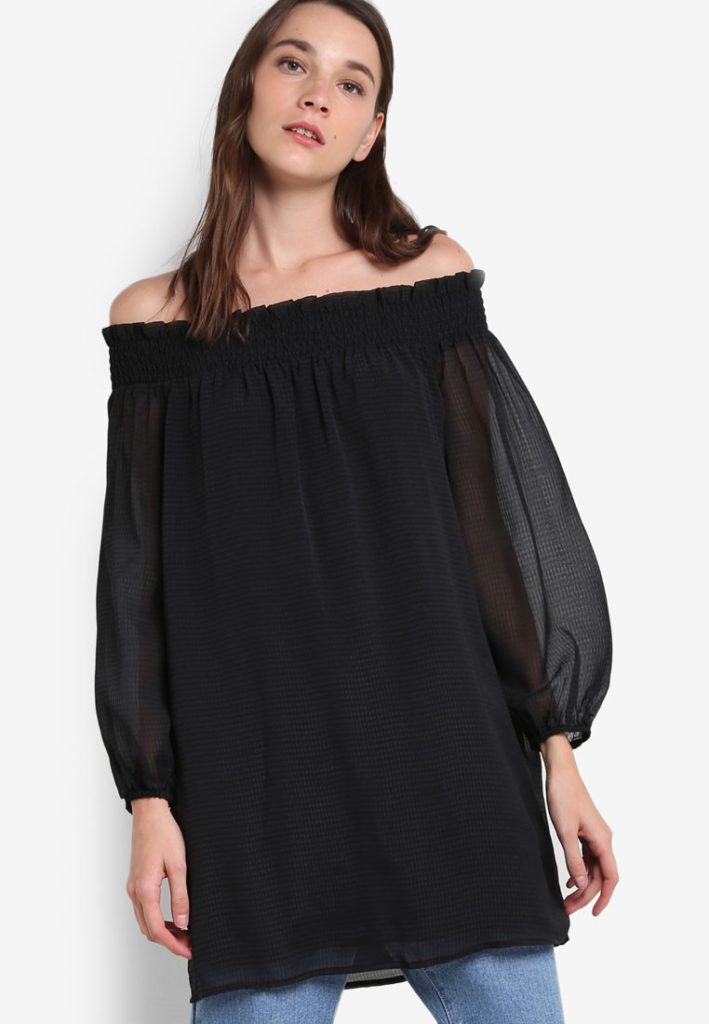 Chiffon Long Sleeve Tunic by Abercrombie & Fitch for Female