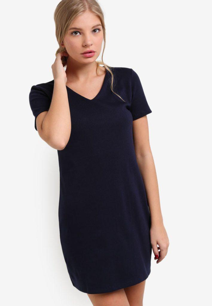Fine Piped V Neck Dress by BoyFromBlighty for Female