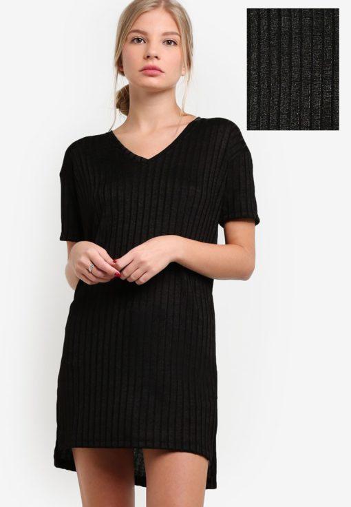 Shimmer Textured Knit Dress by BoyFromBlighty for Female