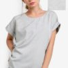 Pinstripe Rolled Sleeve Top by BoyFromBlighty for Female