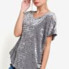 Velvet Effect Tunic Top by BoyFromBlighty for Female