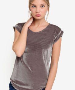 Corduroy Velvet Textured Tunic Top by BoyFromBlighty for Female