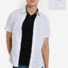 White Short Sleeve Dot Print Shirt by Burton Menswear London for Male