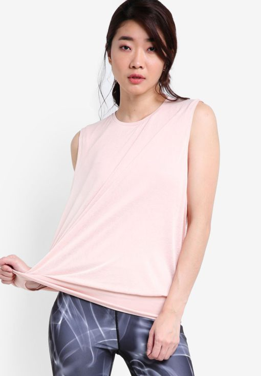 Open Side Double Layered Tank Top by Calvin Klein for Female