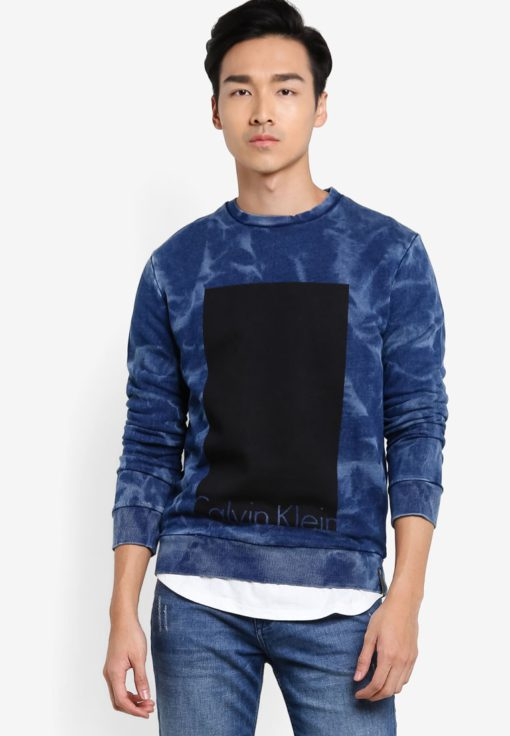Hoki Crew Neck Knit Sweatshirt by Calvin Klein for Male