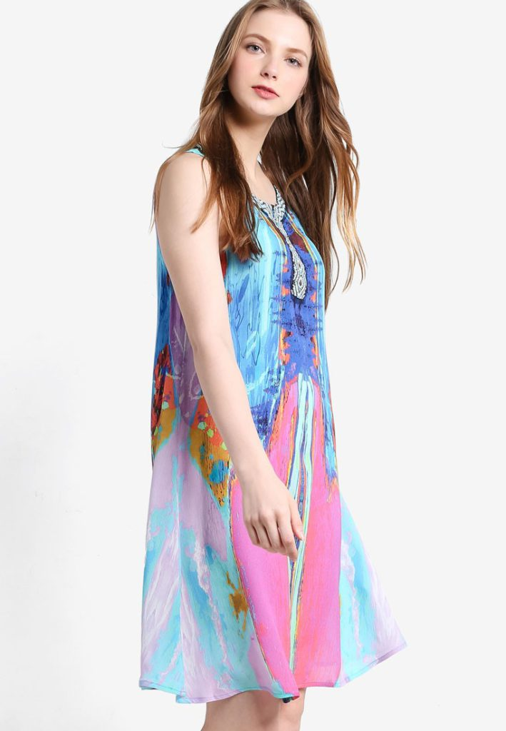 Madrid Sleeveless Dress by Desigual for Female