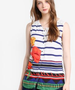 Corvus Sleeveless Blouse by Desigual for Female
