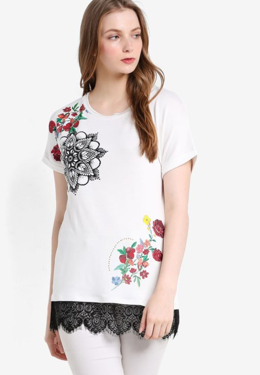 Oporto Short Sleeve T-Shirt by Desigual for Female