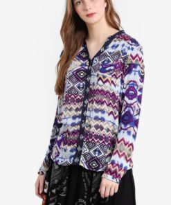 Menorca Long Sleeve Blouse by Desigual for Female