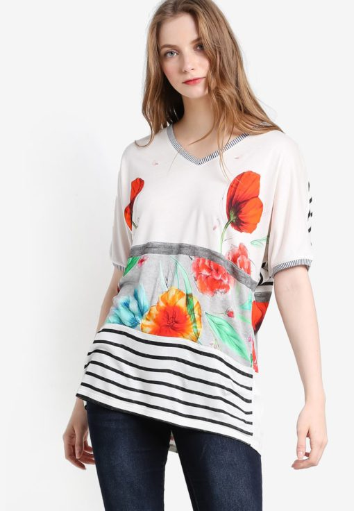 Maria Luisa Short Sleeve Shirt by Desigual for Female