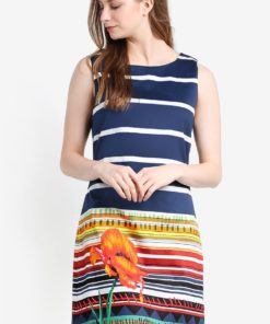 Ari Sleeveless Dress by Desigual for Female
