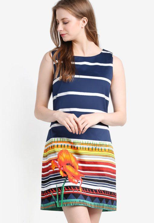Ari Sleeveless Dress by Desigual for Female