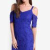 Petite Cobalt Blue Lace Cold Shoulder Pencil Dress by Dorothy Perkins for Female