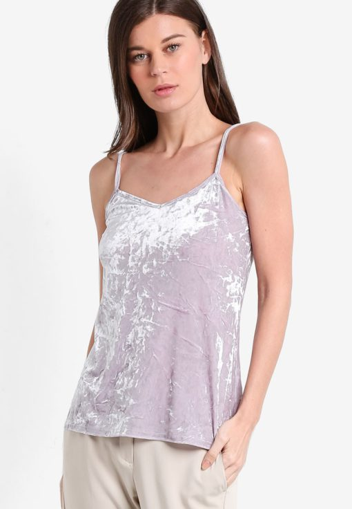 Lilac Velvet Cami by Dorothy Perkins for Female