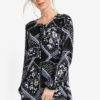 Printed Tie Neck Tunic by Dorothy Perkins for Female