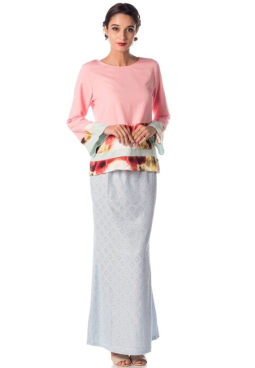 Artistic Watercolour Baju Kurung With Sparkle Skirt by Era Maya for Female
