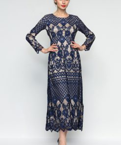 Regal Baroque Allover Lace Dress by Era Maya for Female
