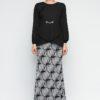 Glam Chain Monochrome Baju Kurung Modern by Era Maya for Female