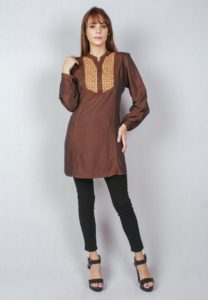 Anatasia Embroidery Long Sleeve Top by ESPRIMA for Female