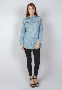 Es Floral Printed Shirt by ESPRIMA for Female