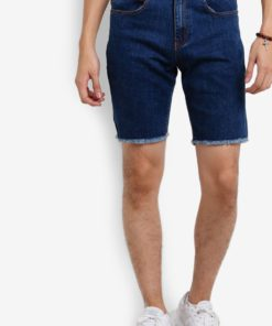 Raw Cut Denim Shorts by Flesh Imp for Male
