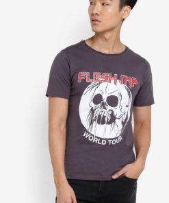 Skull Ironmaide T-shirt by Flesh Imp for Male