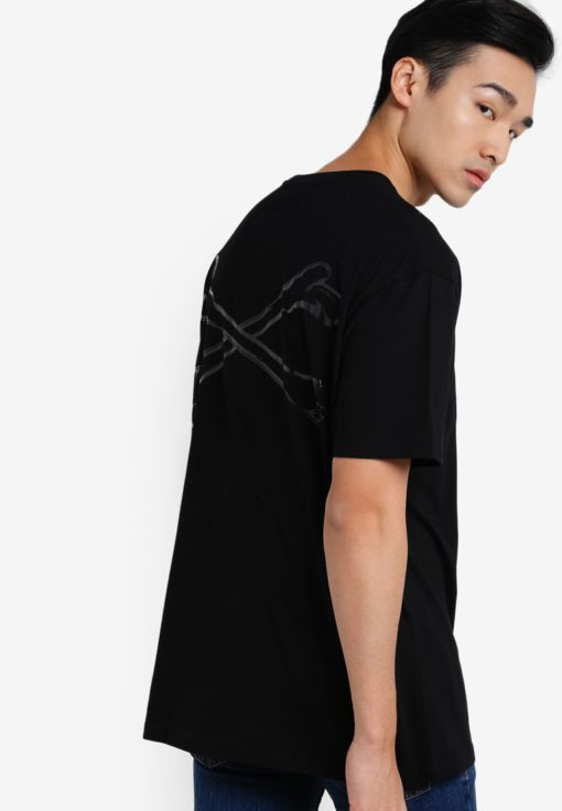 Embossed Bonding Oversized T-shirt by Flesh Imp for Male