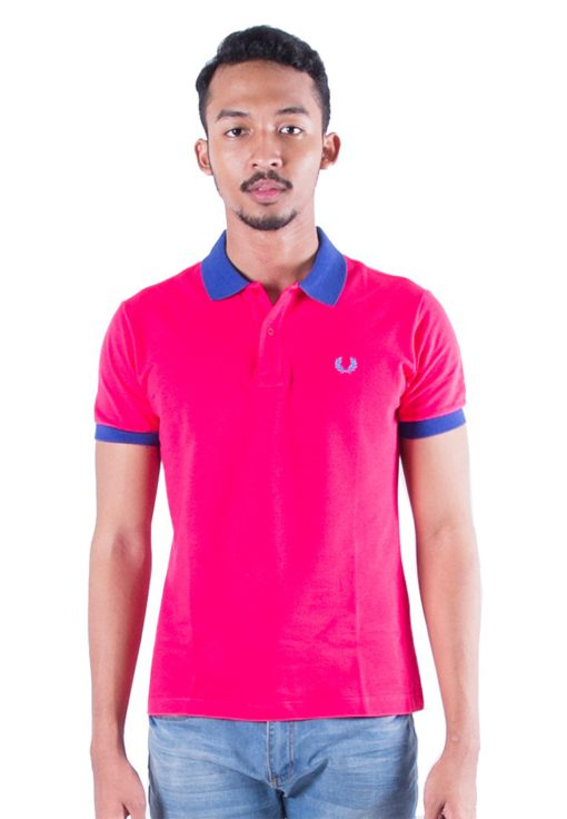 Special Undercollar Slim Fit Polo Shirt by Fred Perry Green Label for Male
