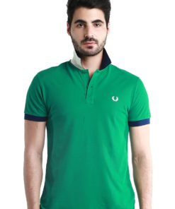Special UnderCollar Green Polo Shirt by Fred Perry Green Label for Male