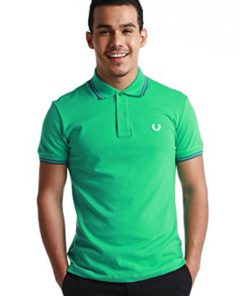 Twin Tipped Green Polo Shirt by Fred Perry Green Label for Male