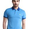 Special UnderCollar Blue Polo Shirt by Fred Perry Green Label for Male