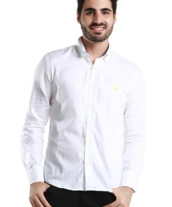 White Long Sleeve Shirt with Neon