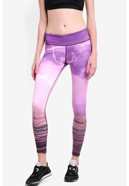 Movement Leggings In Eventide Print by Funfit for Female