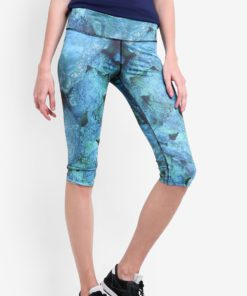 Active Capris In Aquatic Print by Funfit for Female