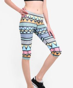 Active Capris In Aztec Print by Funfit for Female