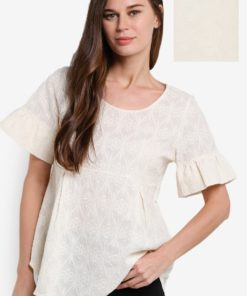 Flare Sleeve Top by Geb. for Female