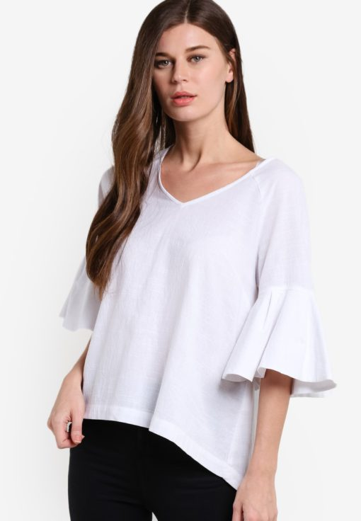 Bell Sleeve Top by Geb. for Female