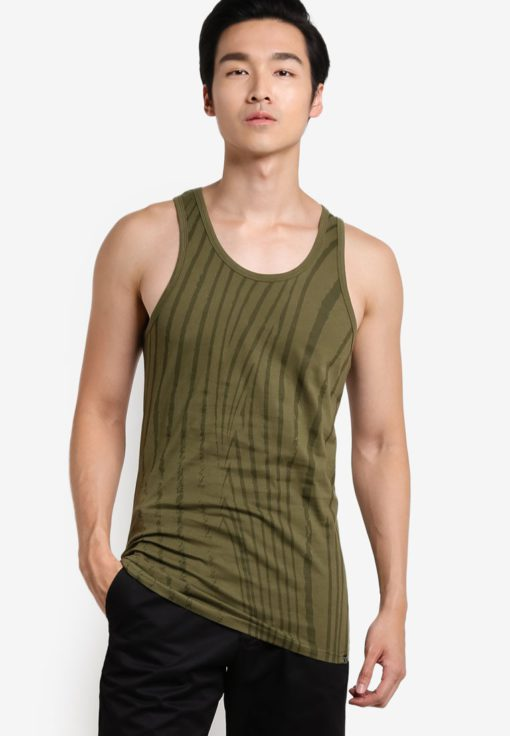 Zebra Print Tank by JAXON for Male