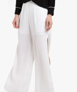 High Slit Wide Leg Pants by KLEEaisons for Female