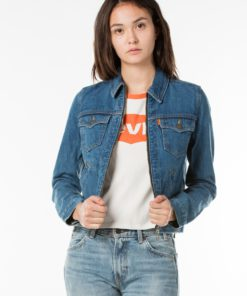 Levi's Orange Tab Zip Front Trucker Jacket by Levi's for Female
