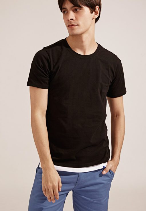Anti Mosquito。320g Cotton Crew Neck T-Shirt- 03748-Black by Life8 for Male