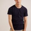 Anti Mosquito。320g Cotton Crew Neck T-Shirt- 03748-Blue by Life8 for Male