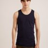 Anti Mosquito。320g Cotton Tank Top- 03750-Blue by Life8 for Male